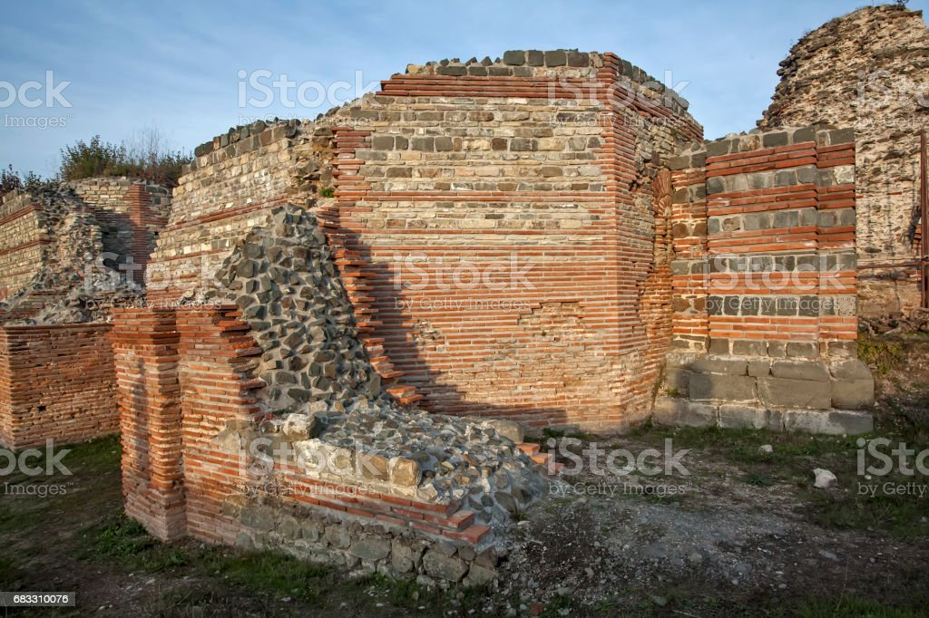 Felix Romuliana archaeological site from Roman times zbiór zdjęć royalty-free