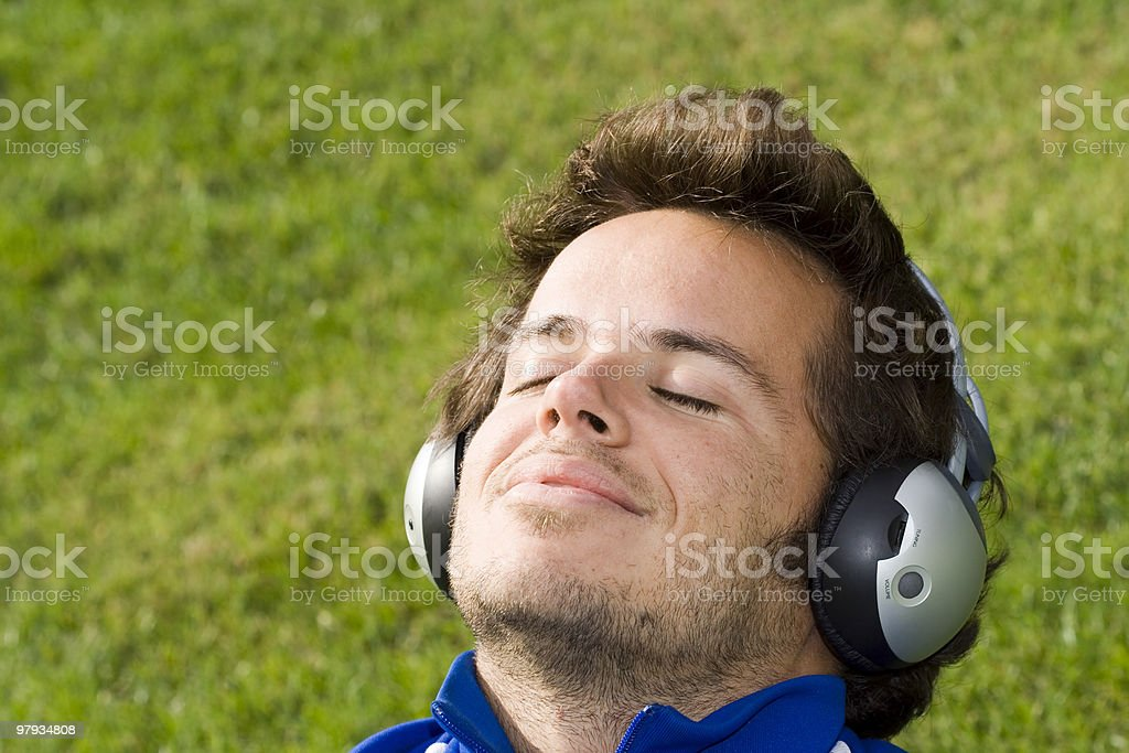 Felling the music royalty-free stock photo