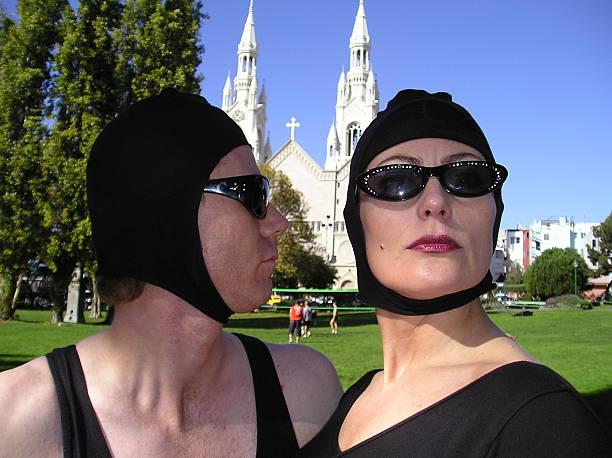 fellini surreal mimen - ausstellungen köln stock-fotos und bilder