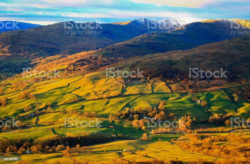 Fells or mountains in the Lake District National Park stock photo