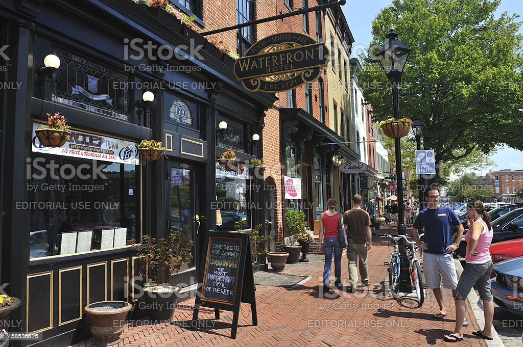 Fells Point in Baltimore stock photo