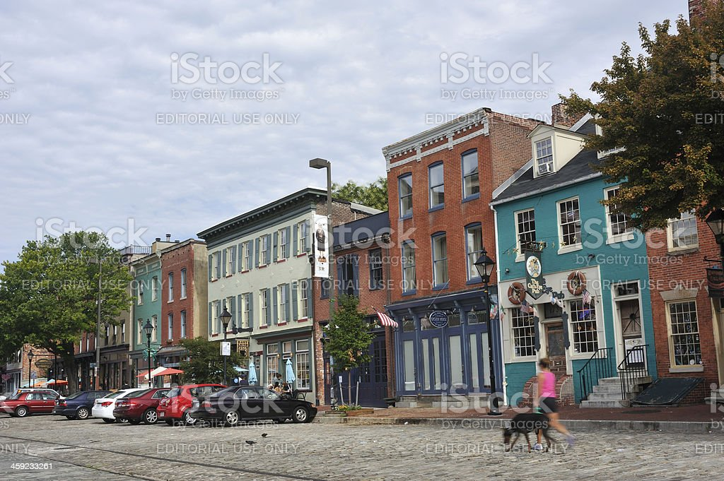 Fell's Point in Baltimore stock photo