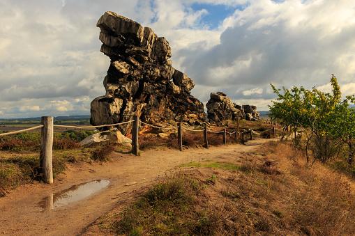 Felsen der Teufelsmauer im Harz