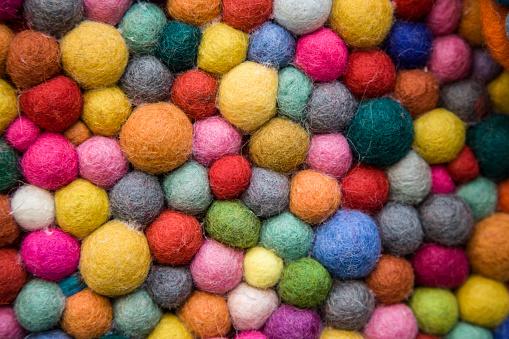 felt balls multi coloured texture
