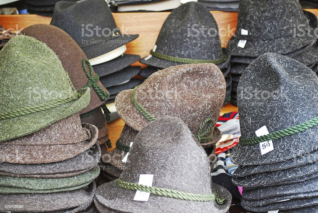felt hat stock photo