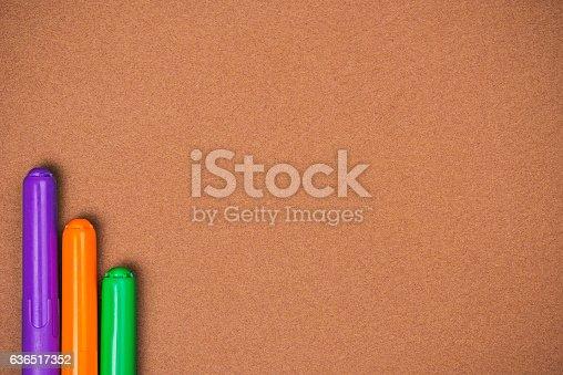 istock Felt pens over brown 636517352