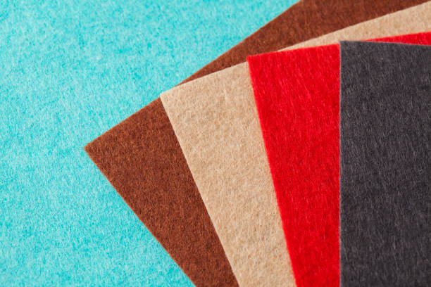 felt swatches for craft ideas - felt textile stock pictures, royalty-free photos & images