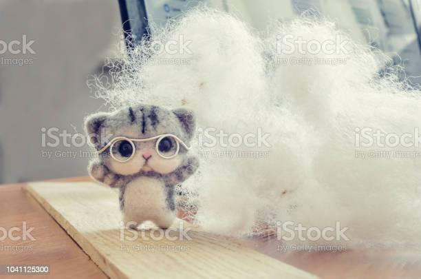 Felting toy small gray kitten in glasses on wooden stand wool picture id1041125300?b=1&k=6&m=1041125300&s=612x612&h=zlxqh1txzlenzibahiz z4ds hiegnjkf qn6fkvxlc=