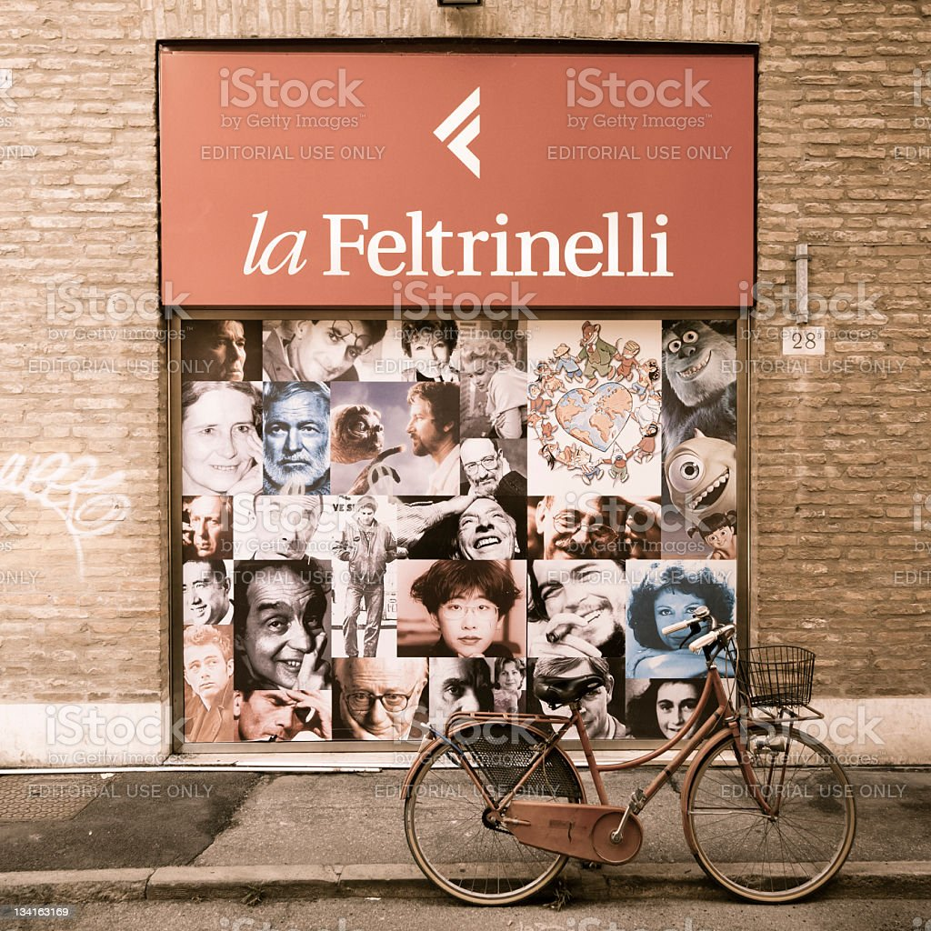 Feltrinelli Bookshop Window royalty-free stock photo