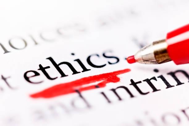 """펠트 펜 밑줄 문서에서 단어 """"윤리"""" - 도덕성 뉴스 사진 이미지"""