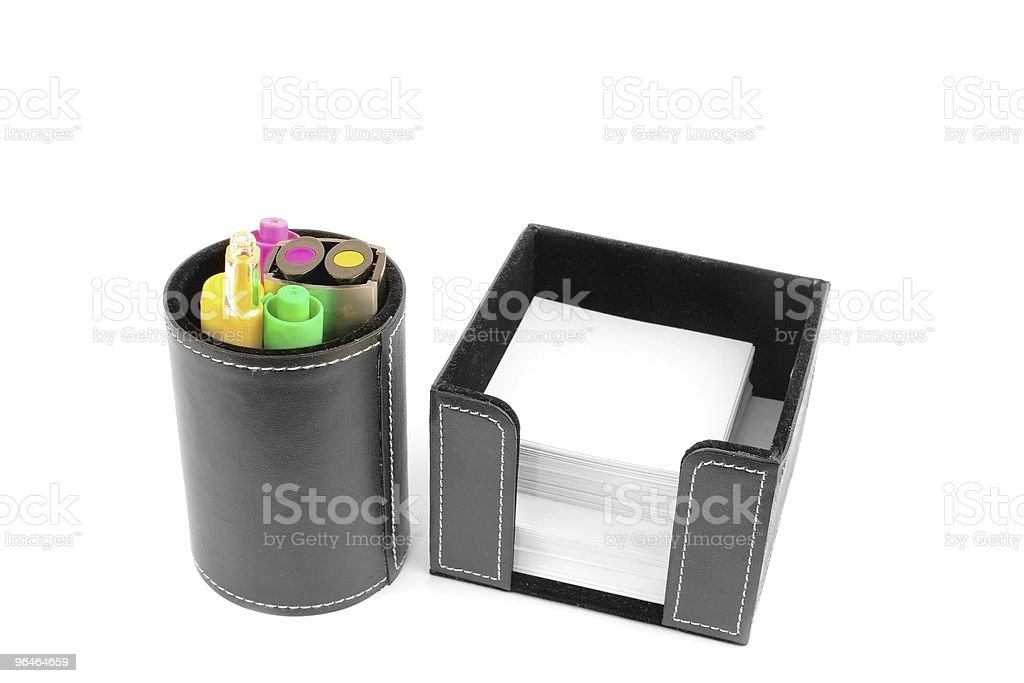 Felt-tip pens-markers and sheets of paper royalty-free stock photo