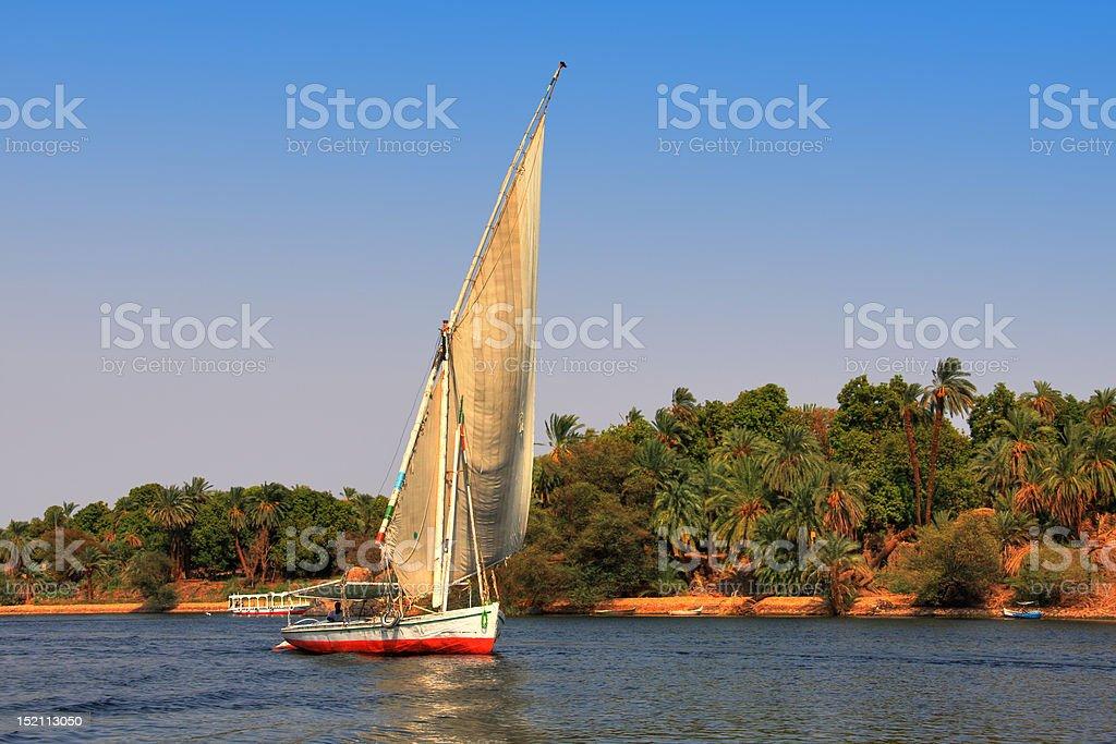 Felucca boat stock photo