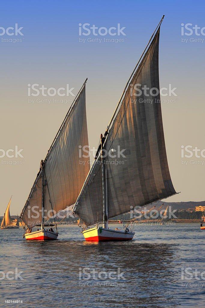 Felucca boats stock photo