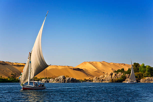 Felucca Nile cruise stock photo