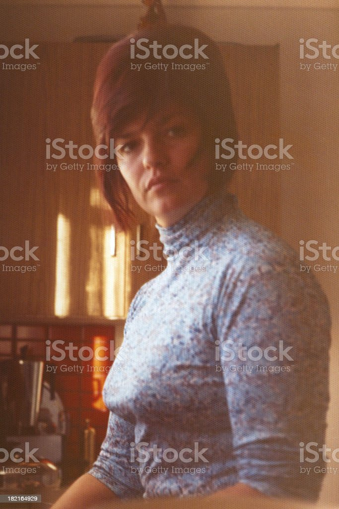 Female 1970's stock photo