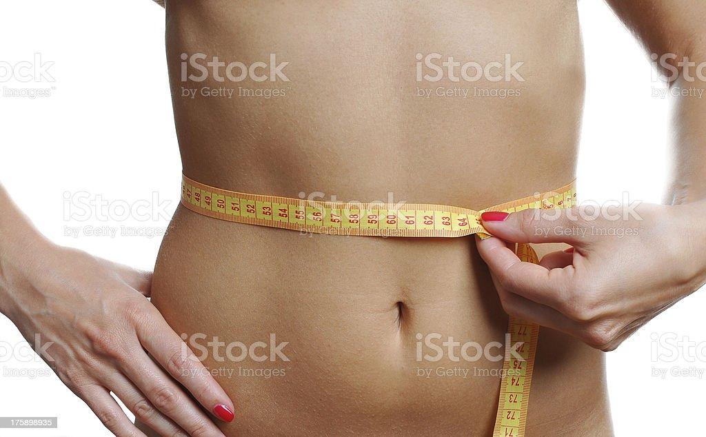 female abdomen stock photo