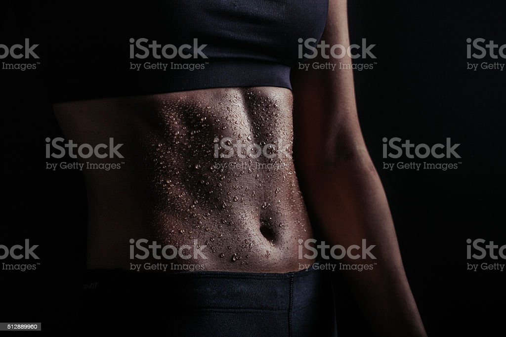 Female abs stock photo