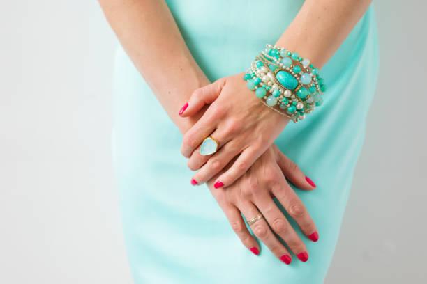 female accessories - браслет стоковые фото и изображения