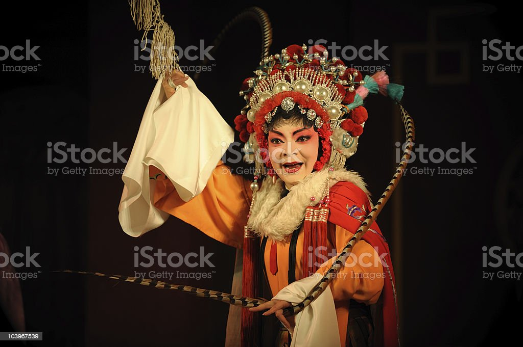 Female actress in tradition Chinese opera costume stock photo