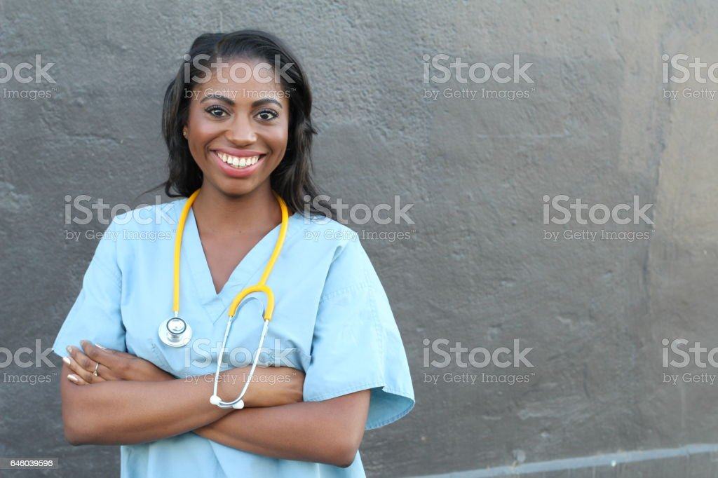 Female African american medical professional stock photo