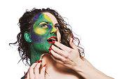 Female Alien With Skin Peeling Off