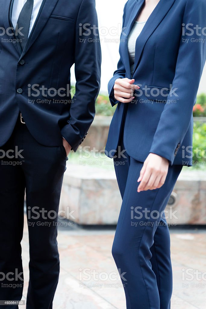Female and Male Business People in Hong Kong, Asia royalty-free stock photo