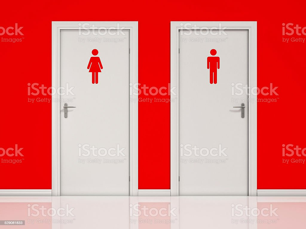 Female and Male, Toilet Doors stock photo