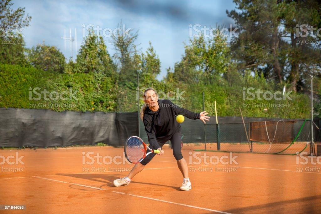 Female Anticipating the Ball stock photo