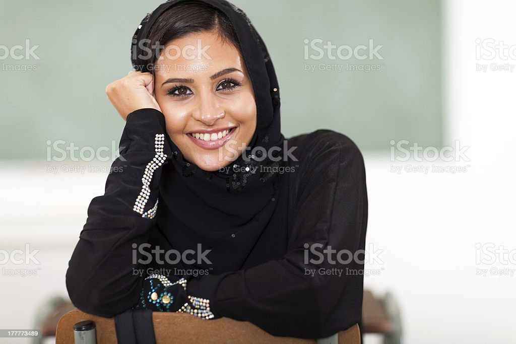 female Arabic college student royalty-free stock photo