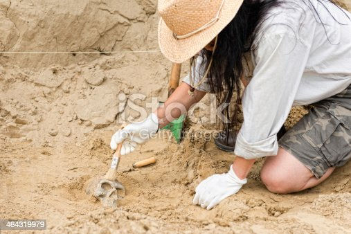 Archaeologist at work