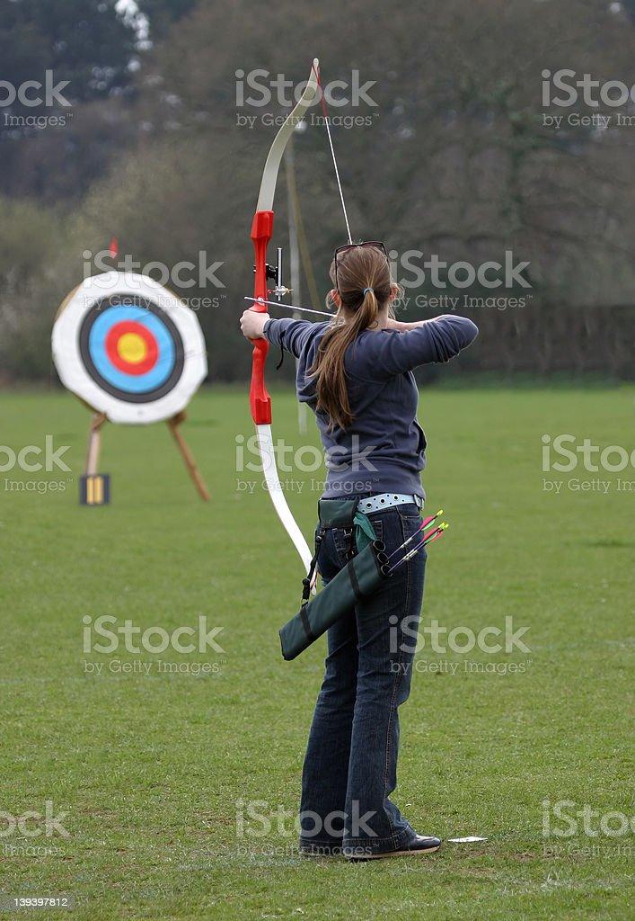Female Archer stock photo
