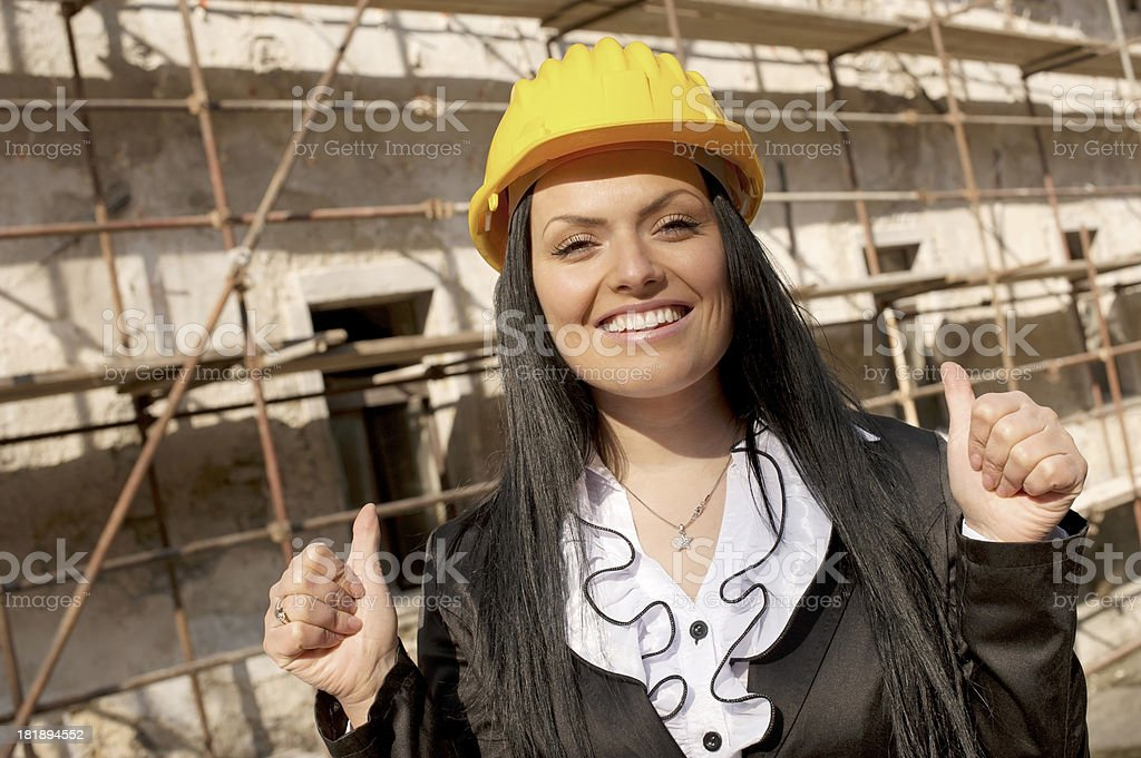 Female Architect at Building Site royalty-free stock photo