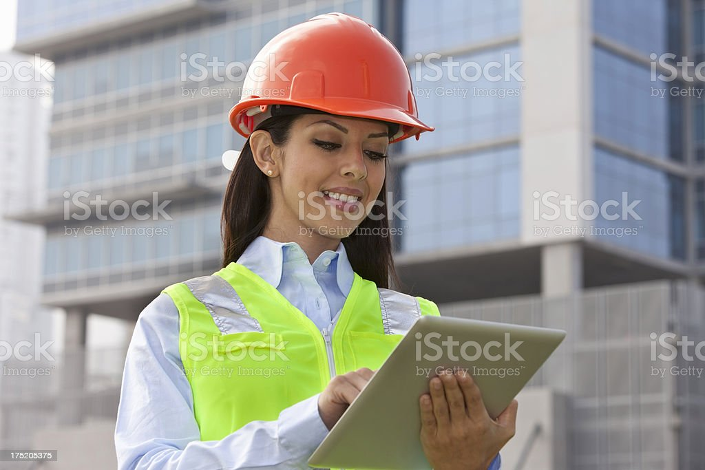 Female Architect at Construction Site royalty-free stock photo
