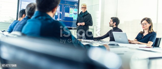 istock Female architect having a presentation 614717568