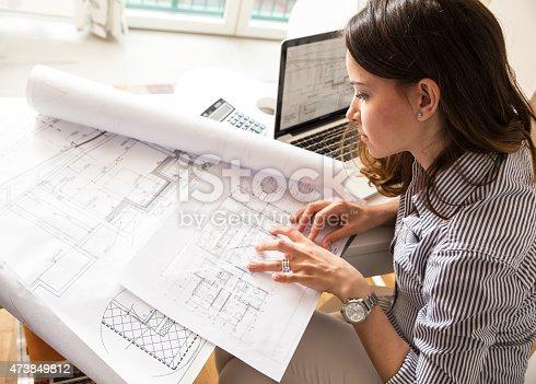istock Female architect 473849812