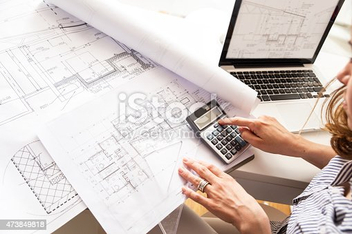 istock Female architect 473849818