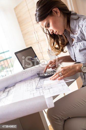 istock Female architect 473849832