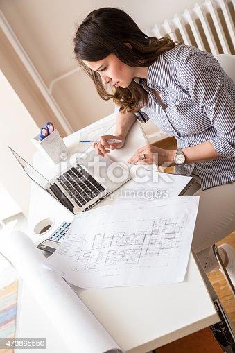 istock Female architect 473865550