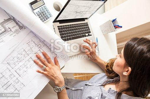 istock Female architect 473865580