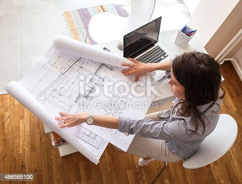 istock Female architect 486565100
