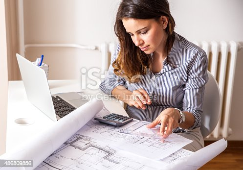 istock Female architect 486809856