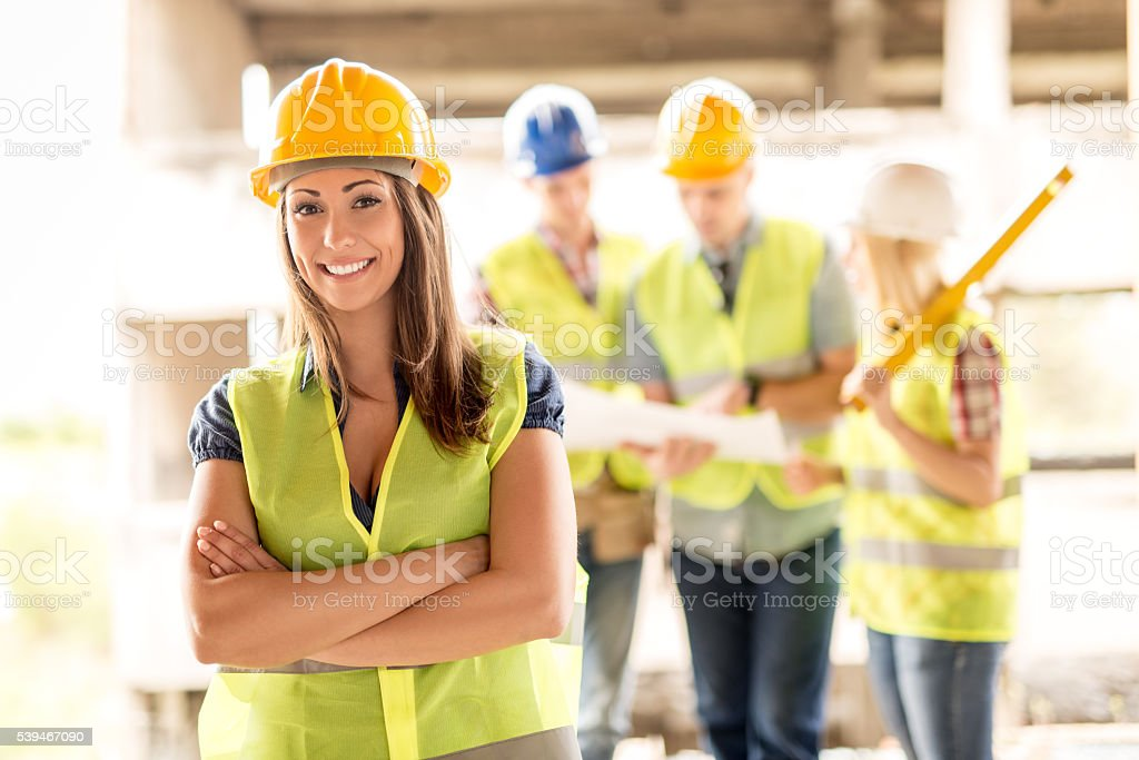 Female Architect stock photo