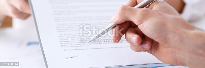 863148614istockphoto Female arm in suit offer contract form on clipboard pad 871428144