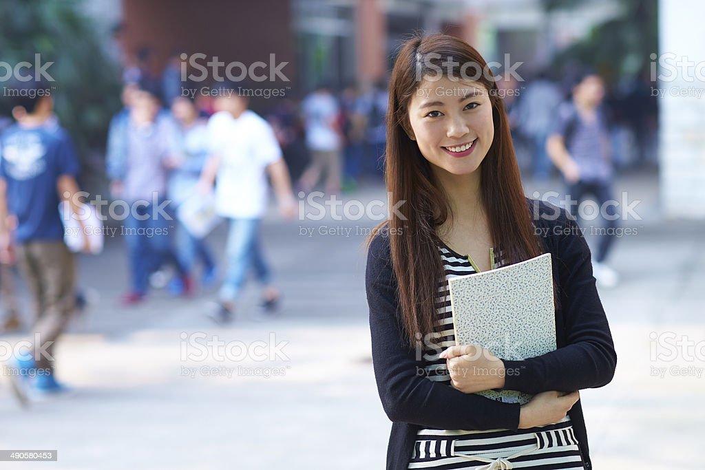 female asian college student portrait stock photo