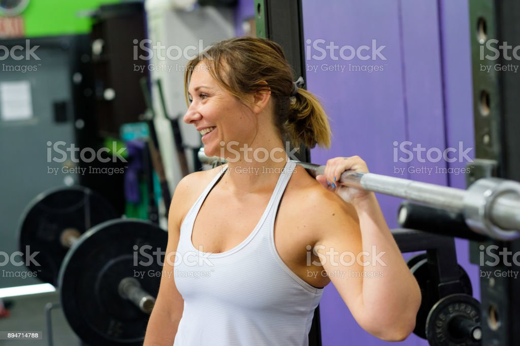 Female at Fitness Gym stock photo