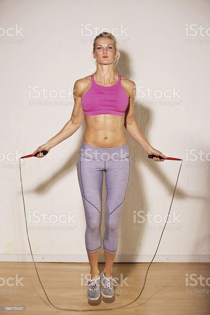Female Athlete Doing Her Strength Training royalty-free stock photo