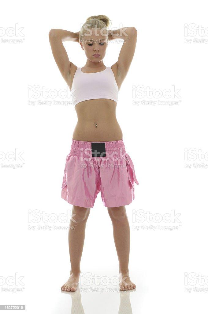Female athlete stock photo