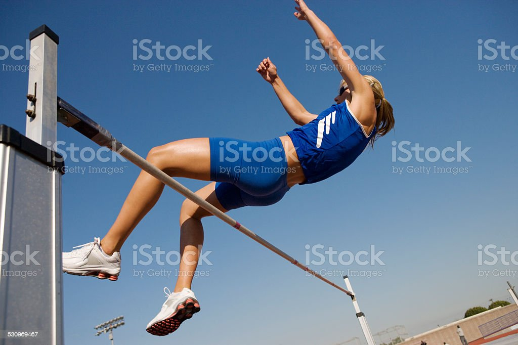 Female athlete stock photo
