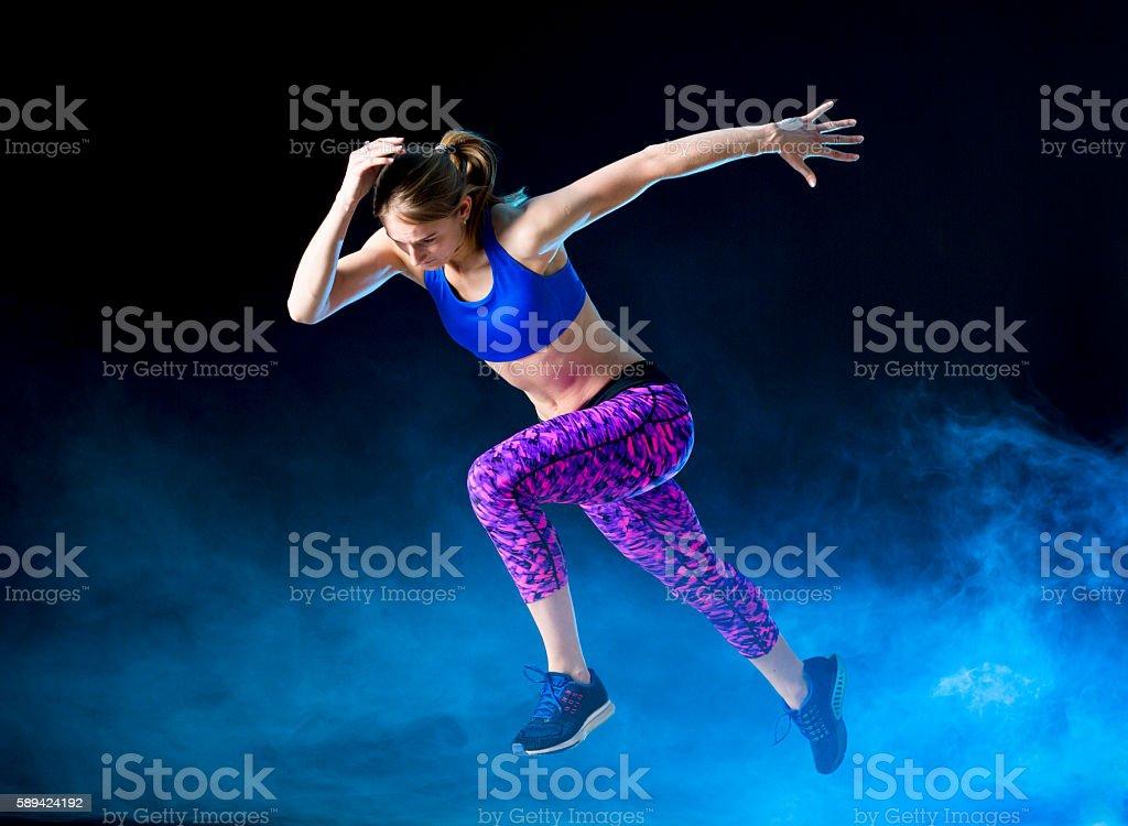 Female Athlete Practicing stock photo