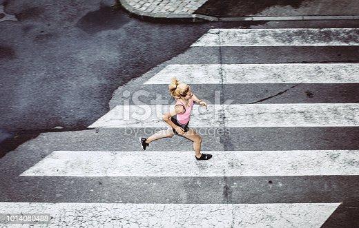 Female Athlete Exercising Outdoors